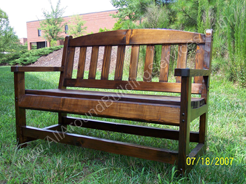 Exterior Decor -- Cedar Bench Stained