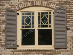 Shutters -- Cypress Louvered Shutters And Full Surround Window Grilles